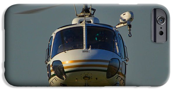 Law Enforcement iPhone Cases - Riverside County Sheriff Air Support 1 iPhone Case by Tommy Anderson