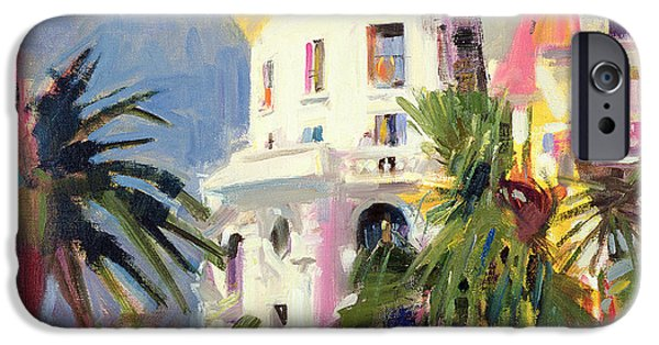 Balcony iPhone Cases - Riviera Balcony iPhone Case by Peter Graham