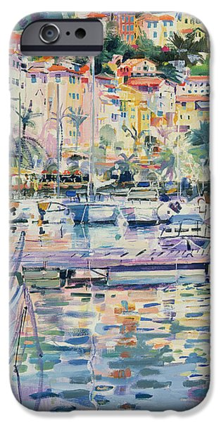 Port Town iPhone Cases - Riviera Yachts iPhone Case by Peter Graham