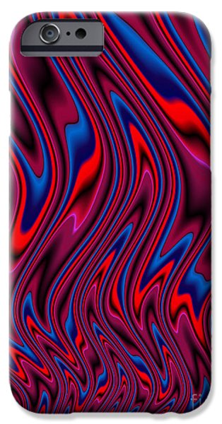 Flame Fractal iPhone Cases - RnB Flames iPhone Case by John Edwards