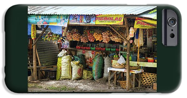 Stock Images iPhone Cases - Road Side Store Philippines iPhone Case by James BO  Insogna