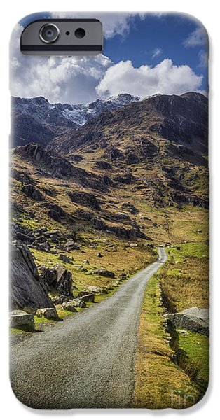 Asphalt iPhone Cases - Road To Exploration iPhone Case by Ian Mitchell