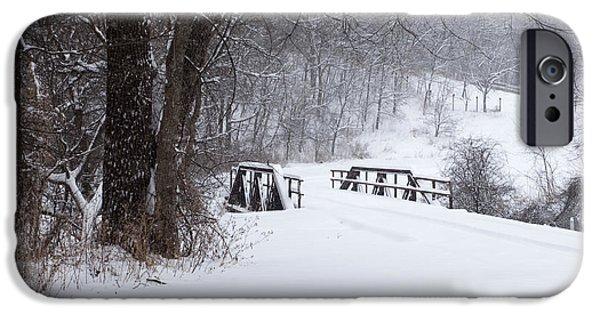 Snow Scene iPhone Cases - Road to Grandmas iPhone Case by Stephen Schwiesow