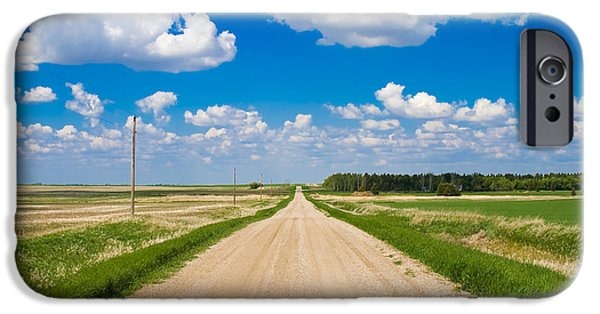 Country Road iPhone Cases - Road to Nowhere iPhone Case by Bob Mintie