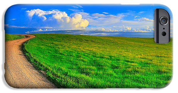 Crops iPhone Cases - Road To The Clouds iPhone Case by Kadek Susanto