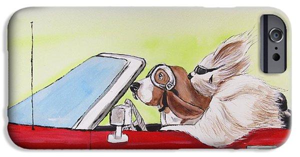 Windblown Paintings iPhone Cases - Road Trip 1 iPhone Case by Carol Blackhurst