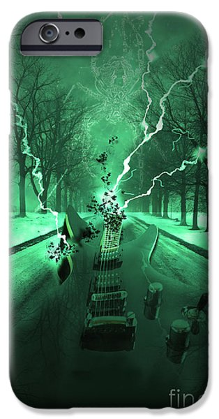 Guitar iPhone Cases - Road Trip Effects  iPhone Case by Cathy  Beharriell