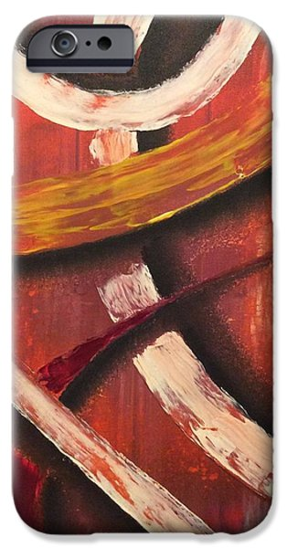Red Abstract iPhone Cases - Roads iPhone Case by Brittany Houchin