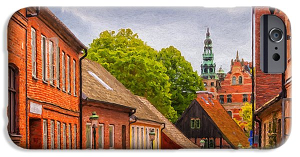 Thoroughfare iPhone Cases - Roads of lund Digital Painting iPhone Case by Antony McAulay