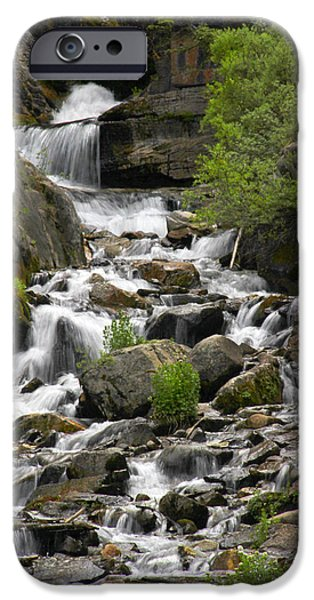 Wetlands iPhone Cases - Roadside Mountain Stream iPhone Case by Mike McGlothlen