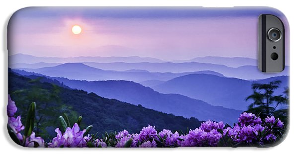 Mountain View iPhone Cases - Roan Mountain Sunset iPhone Case by Rob Travis