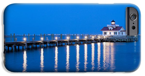 D.c. iPhone Cases - Roanoke Marshes Lighthouse Revisited iPhone Case by Marion Johnson