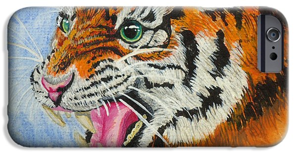 Katy Perry Paintings iPhone Cases - Roar iPhone Case by Ginger Reynolds