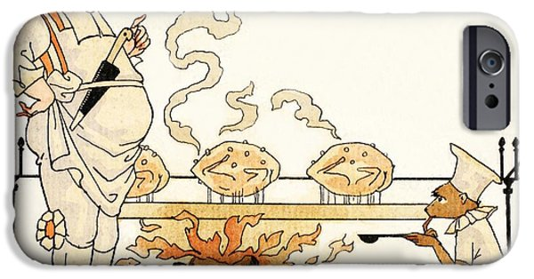 Spit iPhone Cases - Roasting On A Spit iPhone Case by Georges Barbier