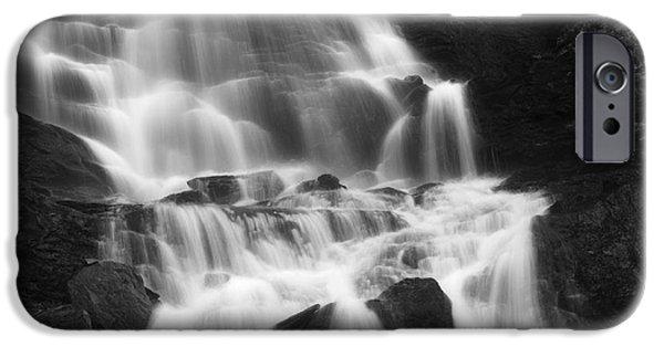 Norway iPhone Cases - Roasto Waterfall In Nordland, Norway iPhone Case by Arild Heitmann