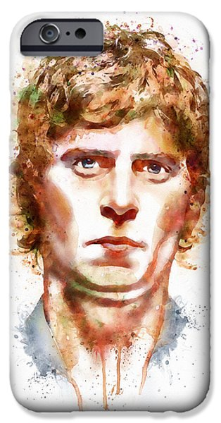 Celebrities Art iPhone Cases - Rob Thomas  iPhone Case by Marian Voicu