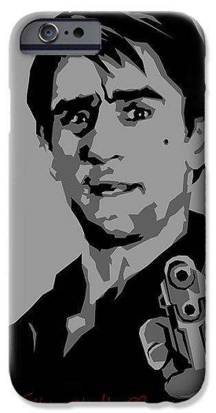 Robert De Niro Digital iPhone Cases - Robert De Niro iPhone Case by Kunal Kundu
