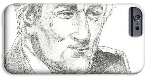 Robert De Niro Drawings iPhone Cases - Robert De Niro iPhone Case by Vic Carrabotta