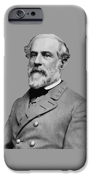 Robert E Lee Confederate Hero iPhone Case by War Is Hell Store