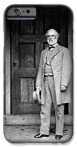 Recently Sold -  - Politician iPhone Cases - Robert E. Lee In Richmond, Virginia iPhone Case by Photo Researchers