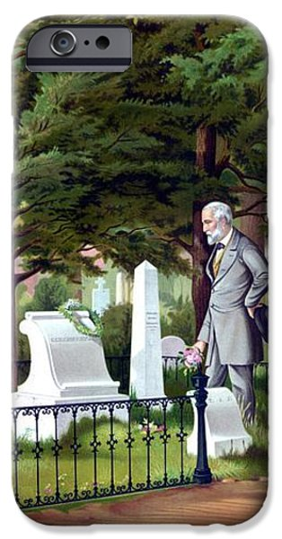 Robert E. Lee Visits Stonewall Jackson's Grave iPhone Case by War Is Hell Store