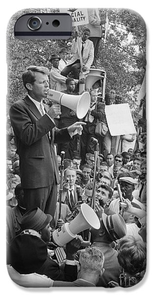 Protesters iPhone Cases - Robert F. Kennedy iPhone Case by Granger