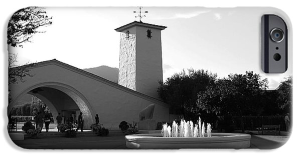 Vineyard Photograph iPhone Cases - Robert Mondavi Napa Valley Winery . Black and White . 7D9029 iPhone Case by Wingsdomain Art and Photography