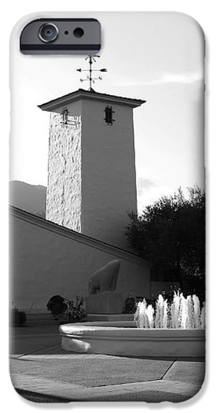 Robert Mondavi Napa Valley Winery . Black and White . 7D9029 iPhone Case by Wingsdomain Art and Photography