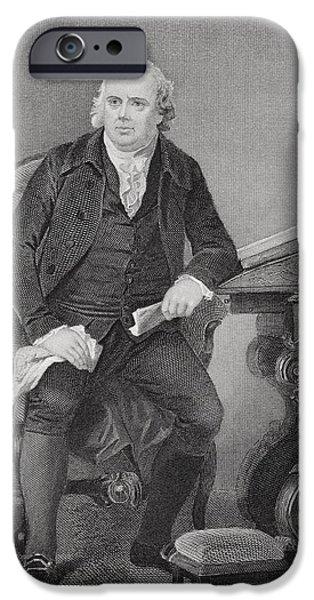 American Revolution iPhone Cases - Robert Morris 1734-1806. American iPhone Case by Ken Welsh