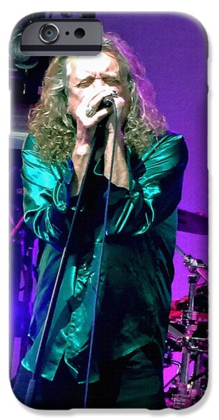 Robert Plant Print iPhone Cases - Robert Plant. And I Will Be a Rainbow iPhone Case by Tanya Filichkin