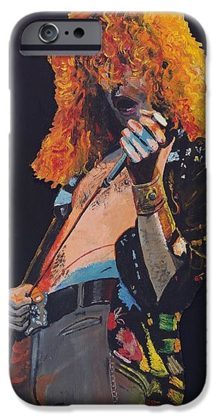 Robert Plant Paintings iPhone Cases - Robert Plant iPhone Case by Bruce Schmalfuss