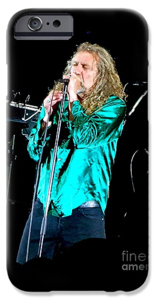 Robert Plant Print iPhone Cases - Robert Plant. I Crossed the Seven Seas to You  iPhone Case by Tanya Filichkin