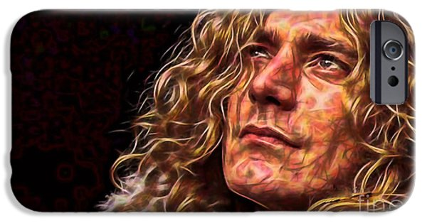 Led Zeppelin iPhone Cases - Robert Plant Led Zeppelin iPhone Case by Marvin Blaine