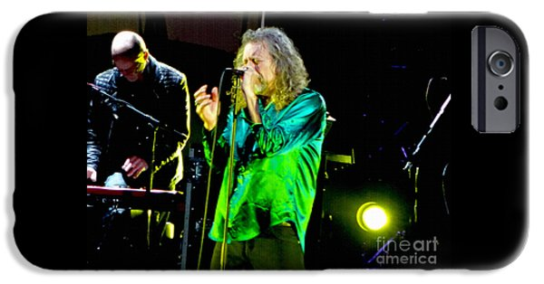 Robert Plant Print iPhone Cases - Robert Plant. Oh Lost In Song iPhone Case by Tanya Filichkin