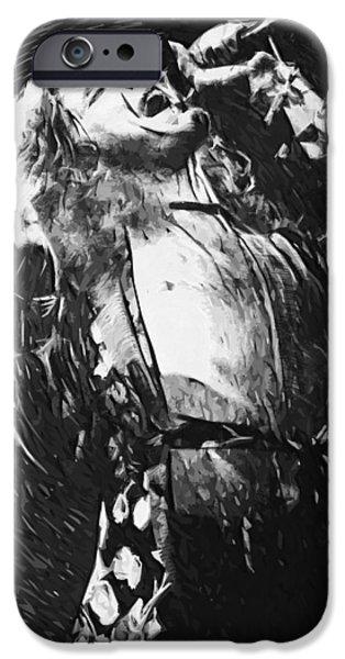 Robert Plant iPhone Cases - Robert Plant iPhone Case by Taylan Soyturk