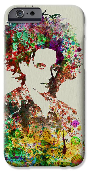 British Portraits iPhone Cases - Robert Smith Cure 2 iPhone Case by Naxart Studio