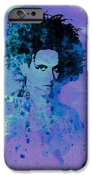Roberts Paintings iPhone Cases - Robert Smith Cure iPhone Case by Naxart Studio
