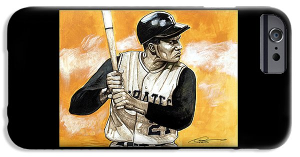 Roberto iPhone Cases - Roberto Clemente iPhone Case by Dave Olsen