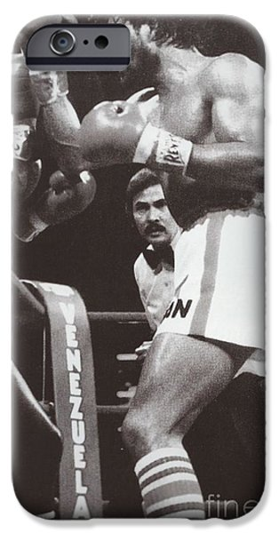 Roberto Paintings iPhone Cases - Roberto Duran 3 iPhone Case by Dennis ONeil