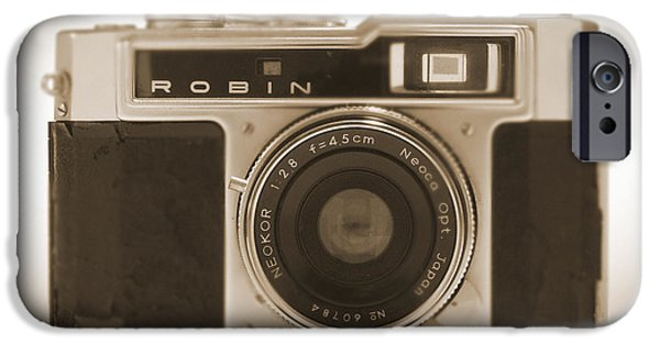 Camera iPhone Cases - Robin 35mm Rangefinder Camera iPhone Case by Mike McGlothlen