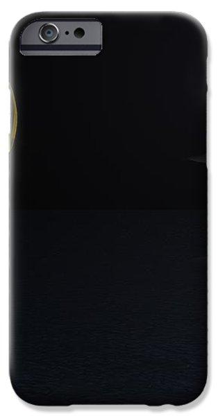 Robot Moonlight Serenade iPhone Case by David Lane