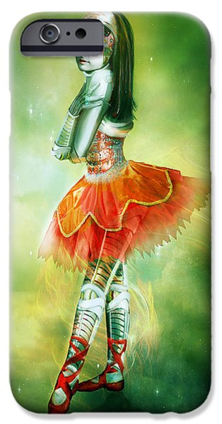 Hope Digital Art iPhone Cases - Robots Can Dream too iPhone Case by Karen H