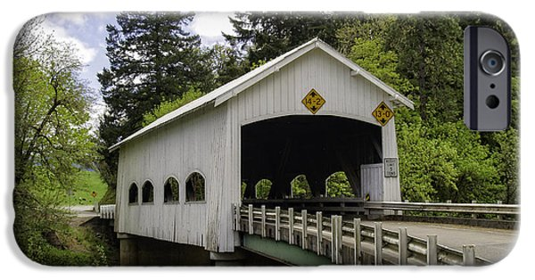 Covered Bridge iPhone Cases - Rochester Covered Bridge iPhone Case by Tim Moore