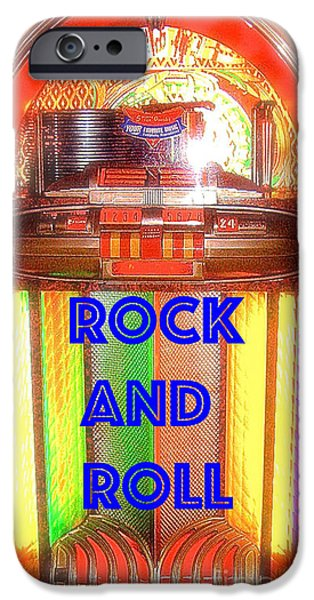 Disc iPhone Cases - Rock And Roll Jukebox iPhone Case by Jerome Stumphauzer