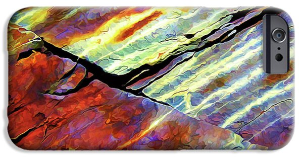 Abstract Digital Photographs iPhone Cases - Rock Art 16 Natural Color iPhone Case by Bill Caldwell -        ABeautifulSky Photography