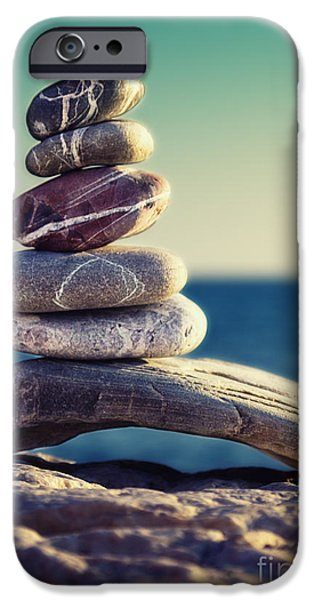 Relaxed iPhone Cases - Rock Energy iPhone Case by Stylianos Kleanthous