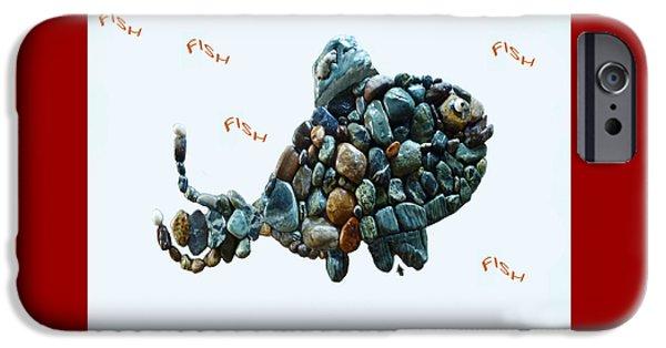 Throw Sculptures iPhone Cases - Rock Fish Alaska iPhone Case by Sarah  King