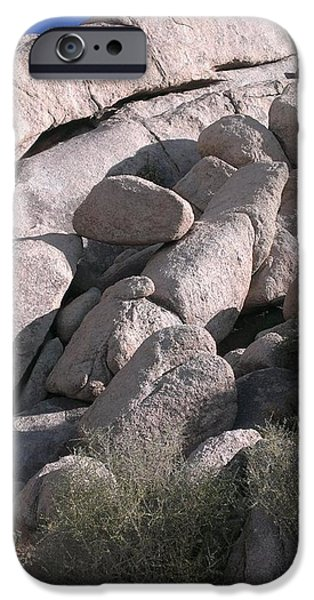 Vibrant Colors Drawings iPhone Cases - Rock Formations of the Mojave Part Two iPhone Case by Missy  Brage