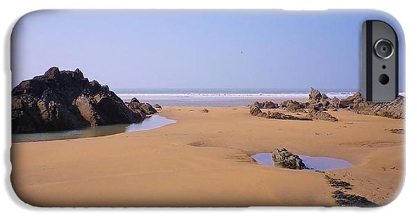 Beach Landscape iPhone Cases - Rock Pools iPhone Case by Richard Brookes