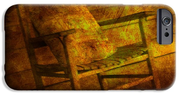 Rocking Chairs Photographs iPhone Cases - Rock without the Roll iPhone Case by Susanne Van Hulst